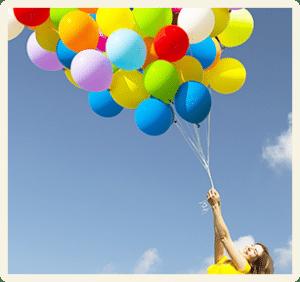 Baloane multicolore cu heliu
