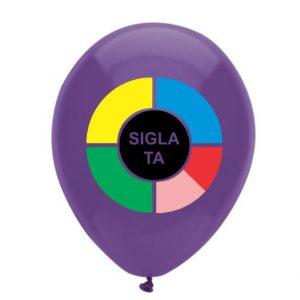 Baloane personalizate 1 fata 6 culori