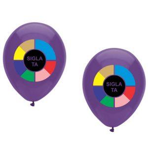 Baloane personalizate 2 fete CMYK + 4 culori
