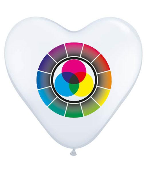 Baloane inima personalizate CMYK